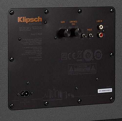 Klipsch R-120SW Input
